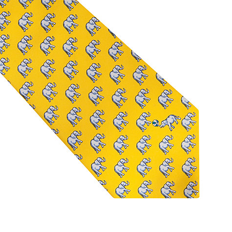 Buy Thomas Pink Elephant Ball Print Tie, Yellow/Blue Online at johnlewis.com