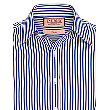 Buy Thomas Pink Algernon Stripe XL Sleeve Shirt, Blue Online at johnlewis.com