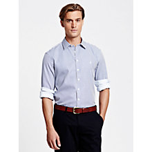 Buy Thomas Pink Albin Stripe Cotton Long Sleeve Shirt, Blue/White Online at johnlewis.com