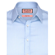 Buy Thomas Pink Lydiard Check XL Sleeve Shirt, Pale Blue/White Online at johnlewis.com