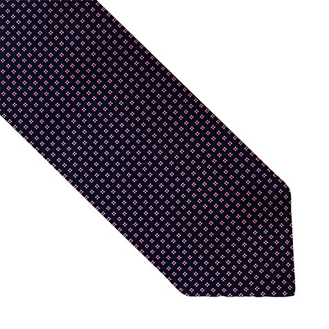 Buy Thomas Pink Gordon Neat Woven Tie, Navy/Pink Online at johnlewis.com