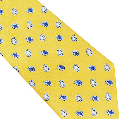 Buy Thomas Pink Cumberland Paisley Printed Tie, Yellow Online at johnlewis.com