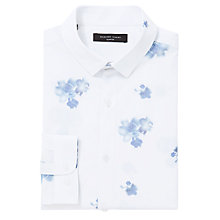 Buy Selected Homme Digital Floral Print Shirt, White/Light Blue Online at johnlewis.com