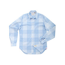 Buy Thomas Pink Sytner Check Long Sleeve Shirt, Light Blue/White Online at johnlewis.com