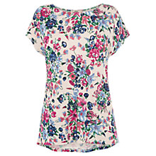 Buy Oasis Botanical Scatter Print T-Shirt, Multi Natural Online at johnlewis.com