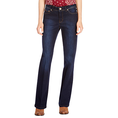 Buy Oasis Regular Rinse Wash Scarlet Bootcut Jeans, Denim Online at johnlewis.com