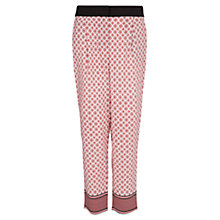 Buy Mango Printed Cropped Baggy Trousers, Navy Online at johnlewis.com