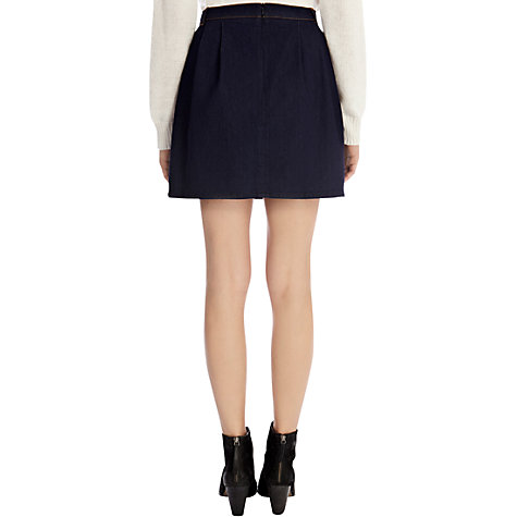 Buy Oasis Amy Tulip Skirt, Denim Online at johnlewis.com