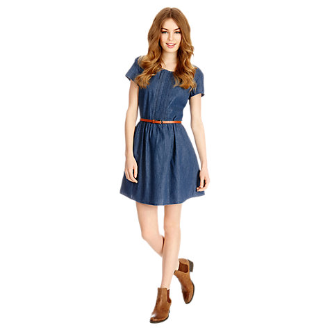 Buy Oasis Harriet Denim Dress, Denim Online at johnlewis.com