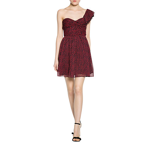 Buy Mango Kiss Asymmetric Dress, Red Online at johnlewis.com