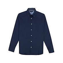 Buy Ted Baker Ulukhot Long Sleeve Shirt, Navy Online at johnlewis.com