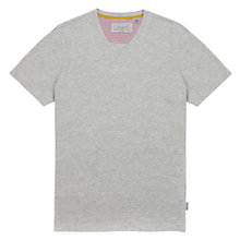 Buy Ted Baker Bravhat V-Neck T-Shirt, Grey Marl Online at johnlewis.com