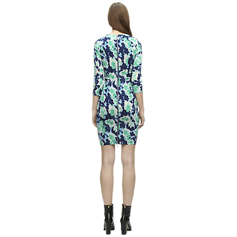 Buy Whistles Silk-Blend Lorie Powdered Floral Dress, Multi Blue Online at johnlewis.com