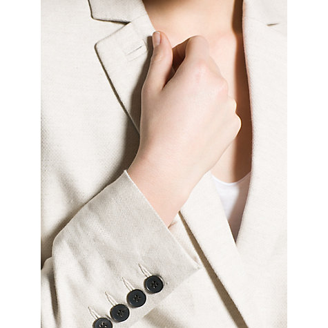 Buy Mango Cotton Linen Suit Blazer, Light Beige Online at johnlewis.com