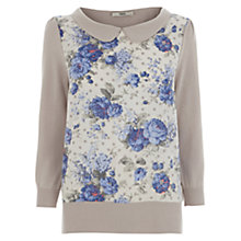 Buy Oasis Chintz Print Top, Light Neutral Online at johnlewis.com