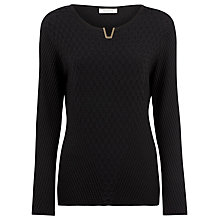 Buy Windsmoor Textured Jumper, Black Online at johnlewis.com