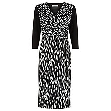 Buy Windsmoor Roma Print Jersey Dress, Black Online at johnlewis.com