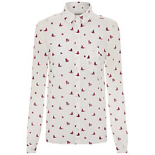 Buy NW3 by Hobbs Butterfly Shirt, Ivory Multi Online at johnlewis.com