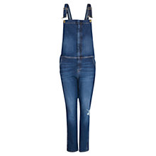 Buy Mango Denim Dungarees, Navy Online at johnlewis.com