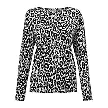 Buy Whistles Paloma Leopard Top, Leopard Print Online at johnlewis.com