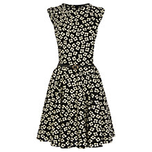 Buy Oasis Daisy Print Skater Dress, Black/White Online at johnlewis.com