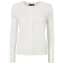 Buy Jaeger Lace Front Cardigan, Ivory Online at johnlewis.com