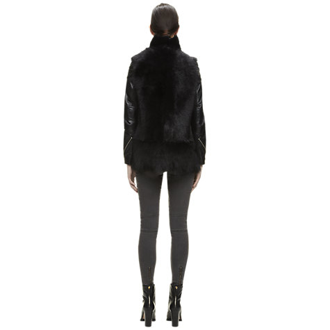 Buy Whistles Leather Sheepskin Gilet Online at johnlewis.com