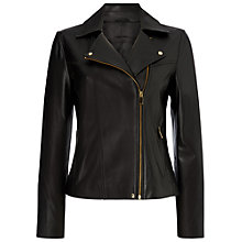 Buy Jaeger Leather Biker Jacket Online at johnlewis.com
