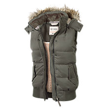 Buy Fat Face Amy Gilet, Charcoal Online at johnlewis.com