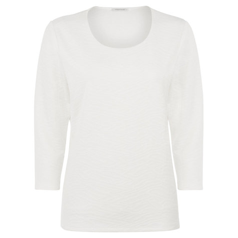 Buy Windsmoor Textured Jersey Top, White Online at johnlewis.com