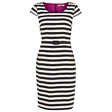 Buy Precis Petite Striped Shift Dress, Black/White Online at johnlewis.com
