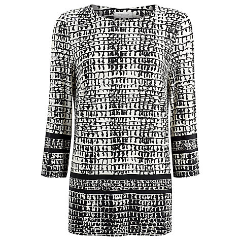 Buy Windsmoor Print Jersey Tunic, Black Online at johnlewis.com
