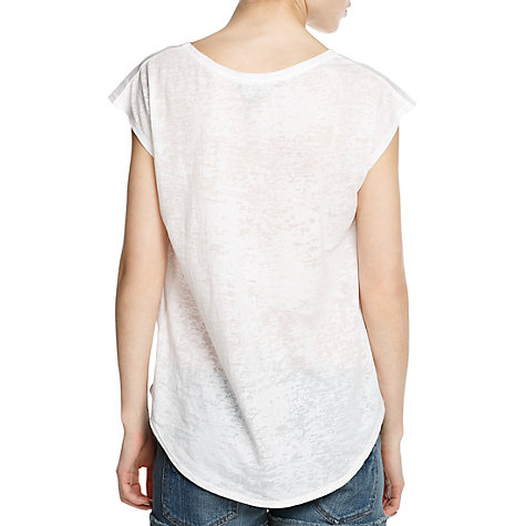 Buy Mango Print Devore T-Shirt, White Online at johnlewis.com