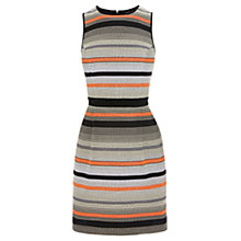 Buy Warehouse Stripe Jacquard Dress, Multi Online at johnlewis.com