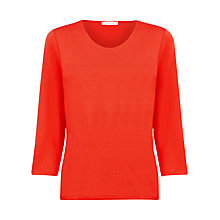 Buy Windsmoor Jersey Top, Orange Online at johnlewis.com