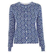Buy Oasis Geometric Printed Cardigan, Rich Blue Online at johnlewis.com