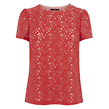 Buy Oasis Lace Grosgrain Back Top Online at johnlewis.com