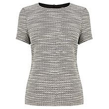 Buy Oasis Salt and Pepper Textured T-Shirt, Multi Black Online at johnlewis.com