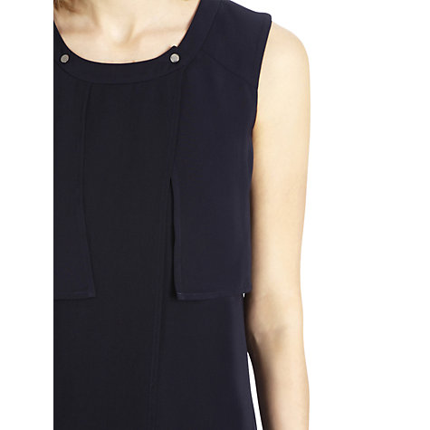 Buy Warehouse Drape Waterfall Blouse, Bright Blue Online at johnlewis.com