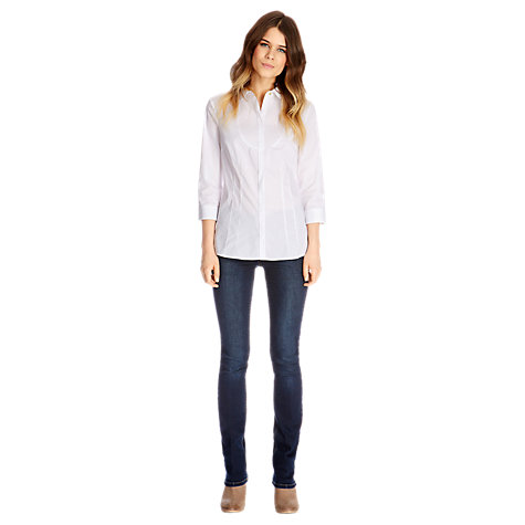 Buy Oasis Crissy Shirt, White Online at johnlewis.com