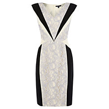 Buy Warehouse Paneled Lace Bodycon Dress, Lilac Online at johnlewis.com