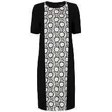 Buy Jaeger Cutwork Floral Dress, Black/Green Online at johnlewis.com