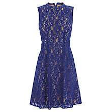 Buy Oasis Adonia Lace Dress, Rich Blue Online at johnlewis.com