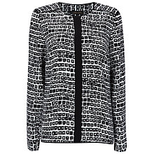 Buy Jaeger Square Print Blouse, Black/White Online at johnlewis.com