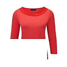 Buy Viyella Cornelli Trim Jersey Top, Flamenco Online at johnlewis.com