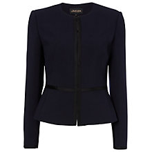 Buy Jaeger Grosgrain Trim Jacket, Navy Online at johnlewis.com