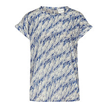 Buy Reiss Ellie Print Top, Light Blue Online at johnlewis.com