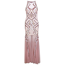 Buy Miss Selfridge Embellished Maxi Swirl Dress, Pink Online at johnlewis.com