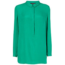 Buy Jaeger Bubble Silk Tunic Top, Jade Online at johnlewis.com