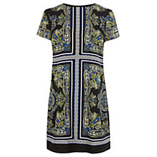 Buy Oasis Scarf Print Shift Dress, Multi Online at johnlewis.com